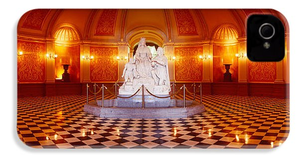 Statue Surrounded By A Railing IPhone 4s Case by Panoramic Images