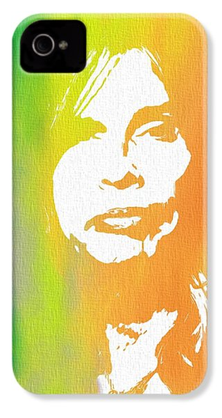 Steven Tyler Canvas IPhone 4s Case by Dan Sproul