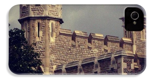 Stormy Skies Over The Tower Of London IPhone 4s Case by Heidi Hermes