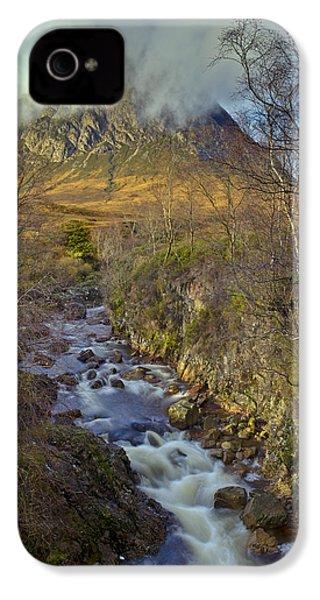 Stream Below Buachaille Etive Mor IPhone 4s Case by Gary Eason