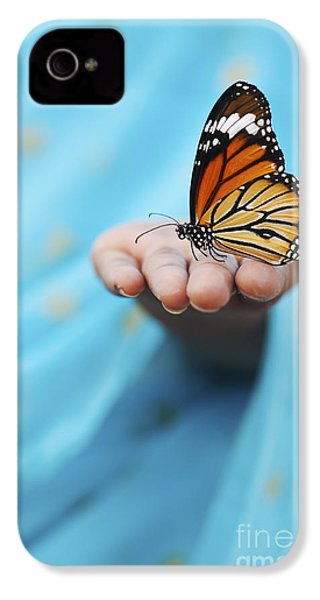 Striped Tiger Butterfly IPhone 4s Case by Tim Gainey
