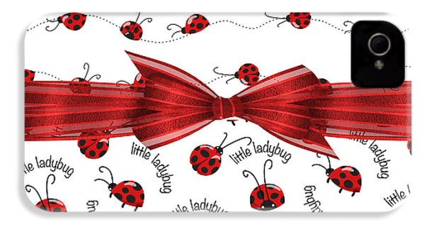 Stylish Ladybugs IPhone 4s Case by Debra  Miller