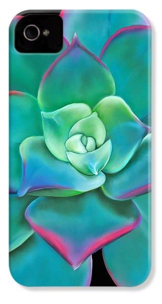 Succulent Aeonium Kiwi IPhone 4s Case by Laura Bell