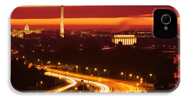Sunset, Aerial, Washington Dc, District IPhone 4s Case by Panoramic Images