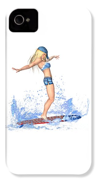Surfing Girl IPhone 4s Case