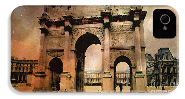 Louvre Museum Arc De Triomphe Louvre Arch Courtyard Sepia- Louvre Museum Arc Monument IPhone 4s Case