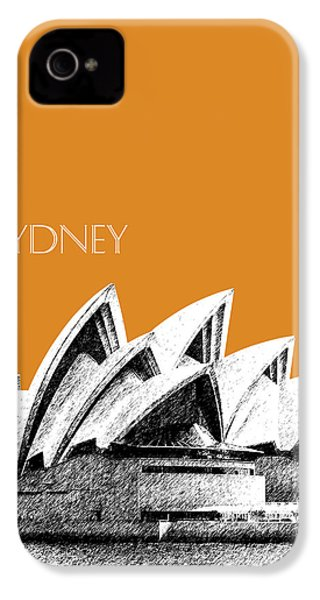 Sydney Skyline 3  Opera House - Dark Orange IPhone 4s Case