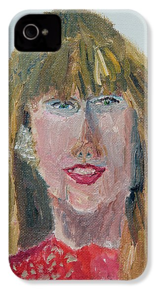 Taylor Swift Sketch IPhone 4s Case by Michael Helfen