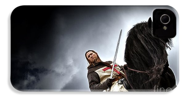 Templar Knight Friesian II IPhone 4s Case by Holly Martin