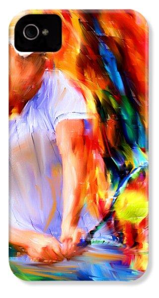 Tennis II IPhone 4s Case by Lourry Legarde