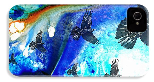 The Calling - Raven Crow Art By Sharon Cummings IPhone 4s Case by Sharon Cummings