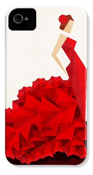 The Dancer Flamenco IPhone 4s Case by VessDSign