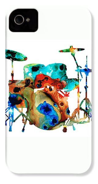 The Drums - Music Art By Sharon Cummings IPhone 4s Case by Sharon Cummings
