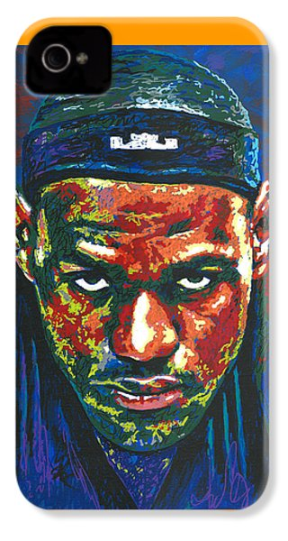 The Lebron Death Stare IPhone 4s Case by Maria Arango