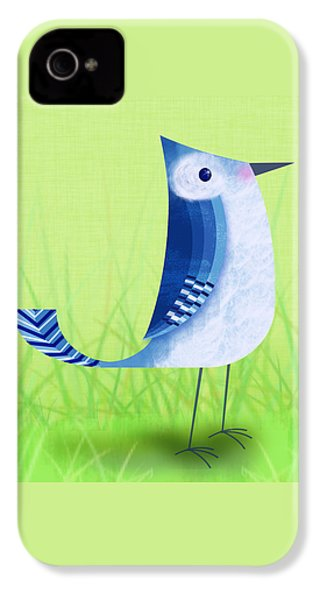 The Letter Blue J IPhone 4s Case by Valerie Drake Lesiak