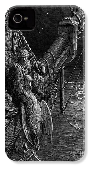 The Mariner Gazes On The Serpents In The Ocean IPhone 4s Case by Gustave Dore
