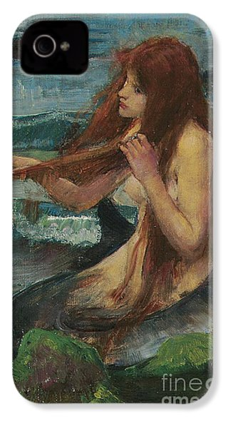 The Mermaid IPhone 4s Case by John William Waterhouse