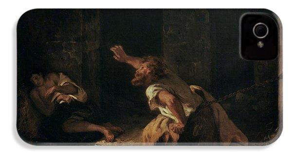 The Prisoner Of Chillon IPhone 4s Case by Ferdinand Victor Eugene Delacroix