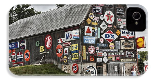IPhone 4s Case featuring the photograph The Sign Barn by Ricky L Jones