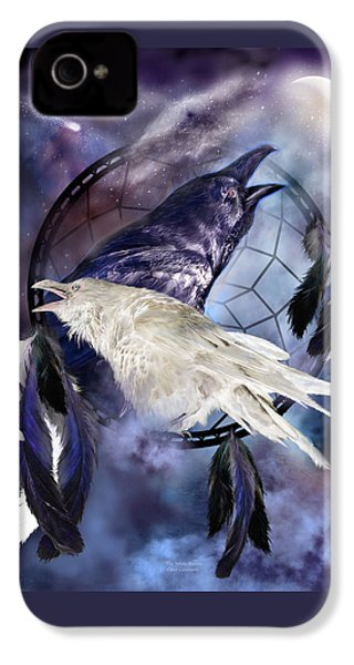 The White Raven IPhone 4s Case by Carol Cavalaris