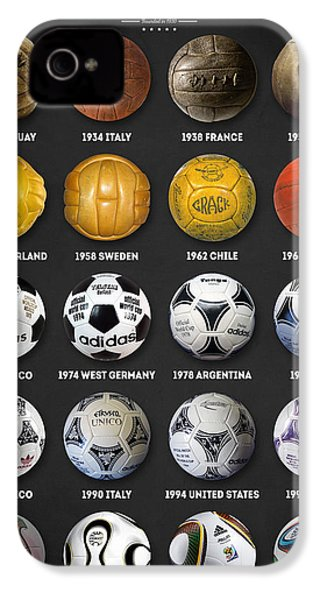 The World Cup Balls IPhone 4s Case