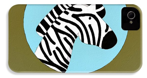 The Zebra Cute Portrait IPhone 4s Case by Florian Rodarte