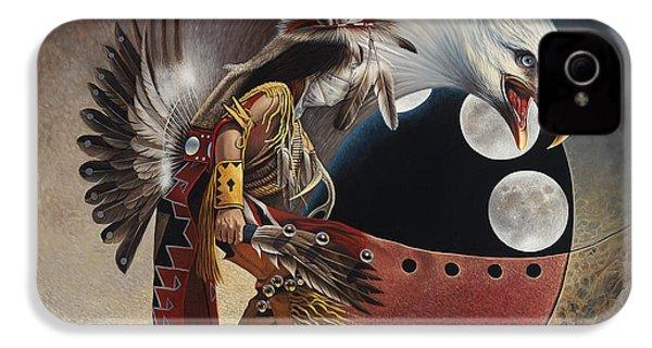 Three Moon Eagle IPhone 4s Case by Ricardo Chavez-Mendez