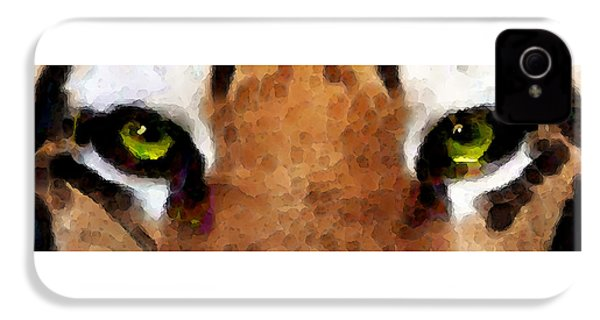 Tiger Art - Hungry Eyes IPhone 4s Case by Sharon Cummings