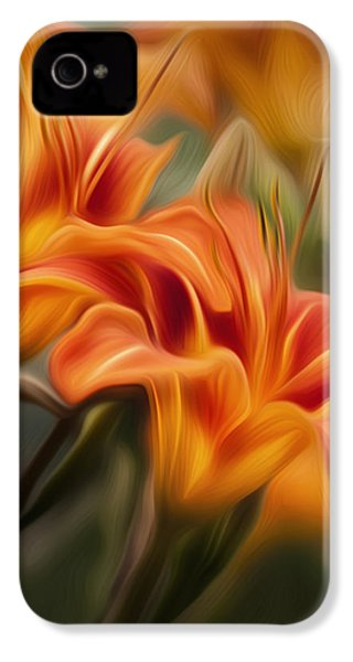 Tiger Lily IPhone 4s Case by Bill Wakeley