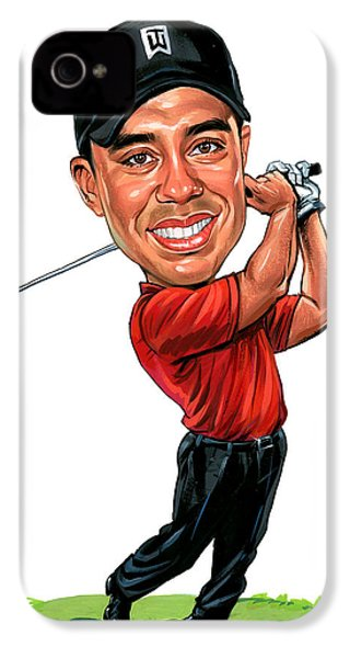 Tiger Woods IPhone 4s Case by Art