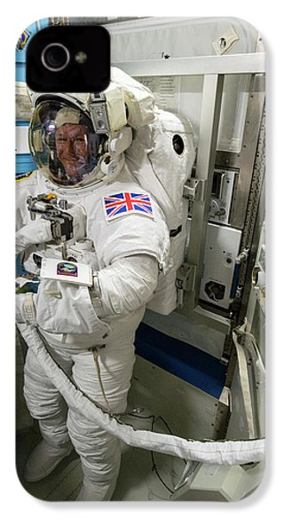 Tim Peake Preparing For Spacewalk IPhone 4s Case by Nasa