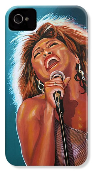 Tina Turner 3 IPhone 4s Case by Paul Meijering