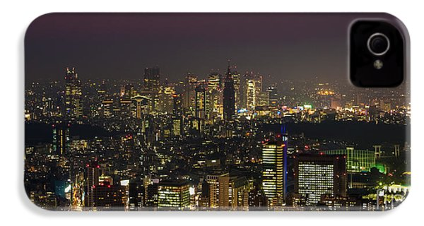 Tokyo City Skyline IPhone 4s Case by Fototrav Print