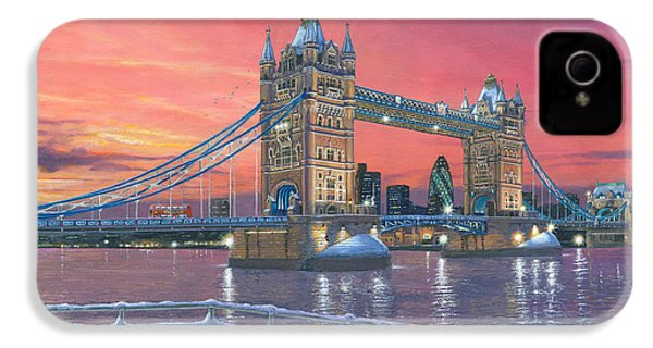 Tower Bridge After The Snow IPhone 4s Case by Richard Harpum