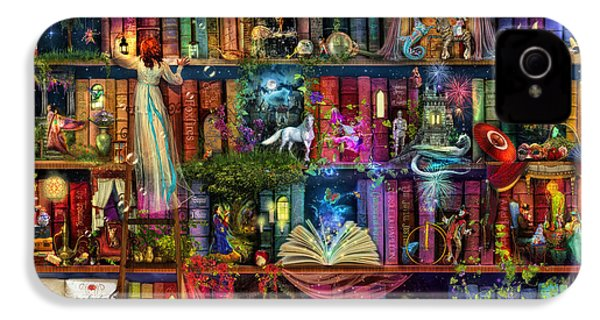 Fairytale Treasure Hunt Book Shelf IPhone 4s Case by Aimee Stewart