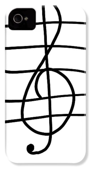 Treble Clef IPhone 4s Case by Jada Johnson