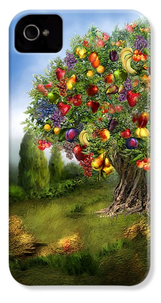 Tree Of Abundance IPhone 4s Case by Carol Cavalaris