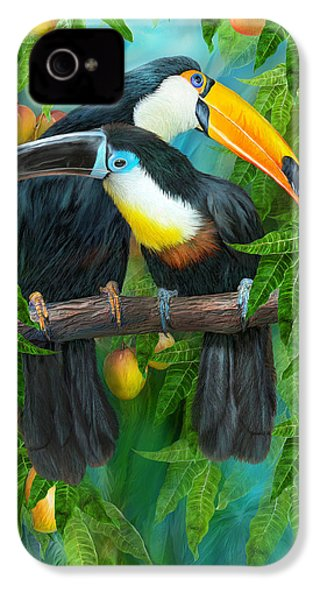 Tropic Spirits - Toucans IPhone 4s Case by Carol Cavalaris