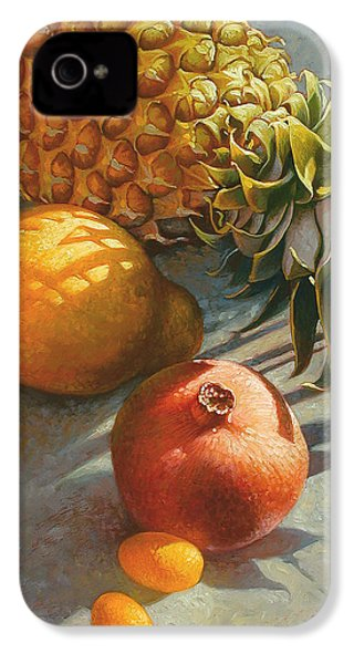 Tropical Fruit IPhone 4s Case by Mia Tavonatti