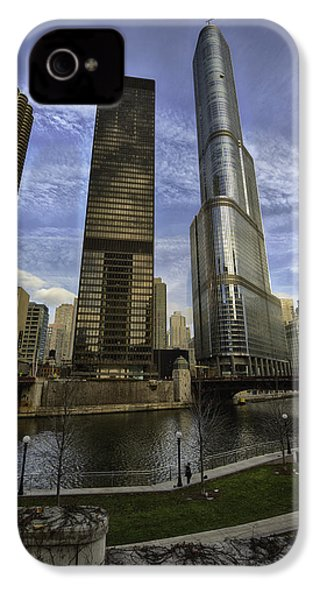 Trump Tower And River Front IPhone 4s Case by Sebastian Musial