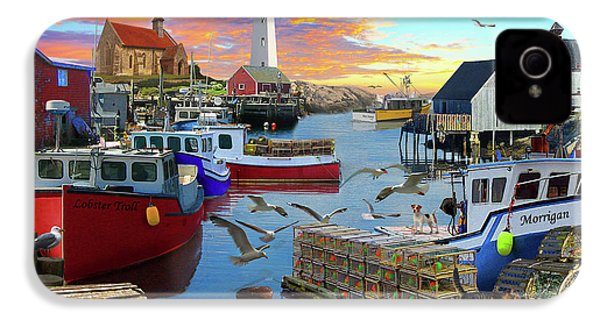 IPhone 4s Case featuring the drawing Uk Boat Cove by David M ( Maclean )