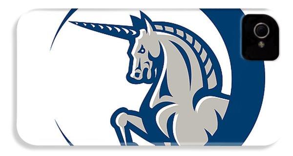 Unicorn Horse Prancing Side IPhone 4s Case by Aloysius Patrimonio