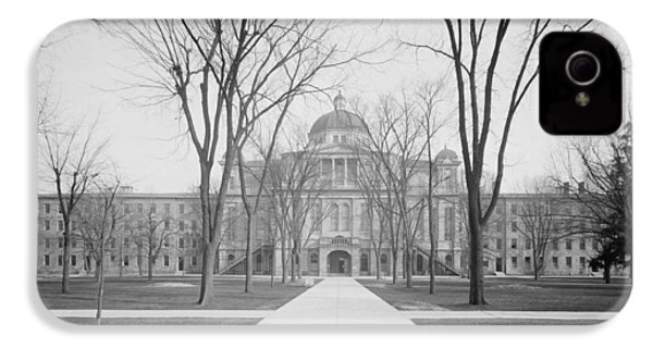 University Hall, University Of Michigan, C.1905 Bw Photo IPhone 4s Case by Detroit Publishing Co.