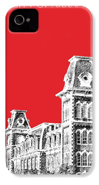 University Of Arkansas - Red IPhone 4s Case by DB Artist
