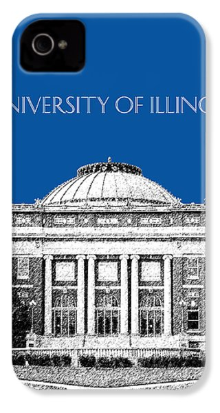 University Of Illinois Foellinger Auditorium - Royal Blue IPhone 4s Case by DB Artist