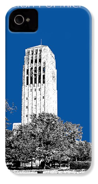 University Of Michigan - Royal Blue IPhone 4s Case by DB Artist