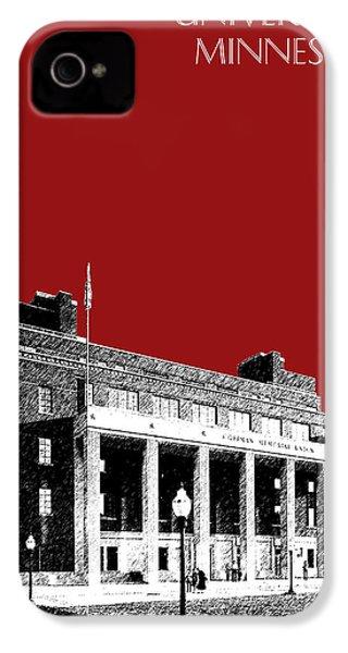 University Of Minnesota - Coffman Union - Dark Red IPhone 4s Case by DB Artist