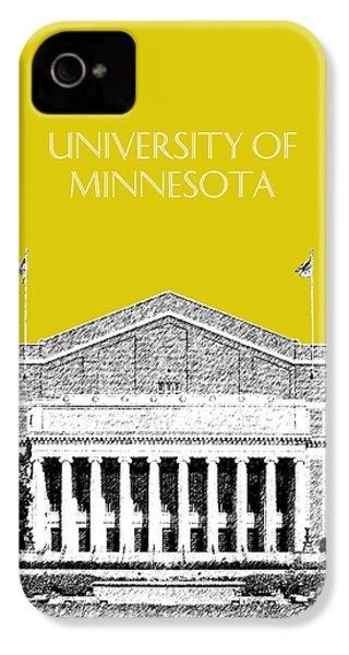 University Of Minnesota 2 - Northrop Auditorium - Mustard Yellow IPhone 4s Case by DB Artist