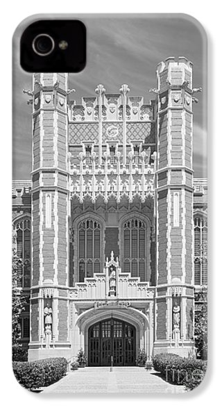 University Of Oklahoma Bizzell Memorial Library  IPhone 4s Case by University Icons