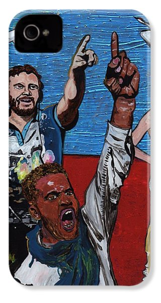 Untitled Panel 2 Of 3 IPhone 4s Case by David Moriarty